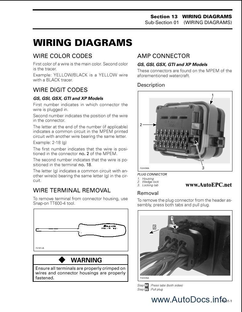 medium resolution of  spare parts catalogue and repair manuals bombardier sea doo 1996 1997 8