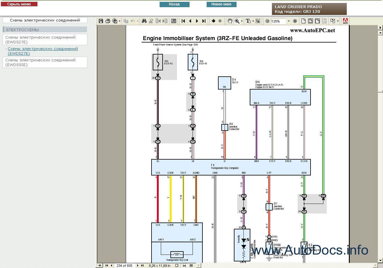toyota land cruiser prado 120 wiring diagram 7 blade trailer service manual rus repair