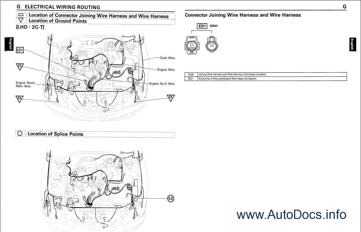 1996 toyota camry wiring diagram electrical circuit repair manual order