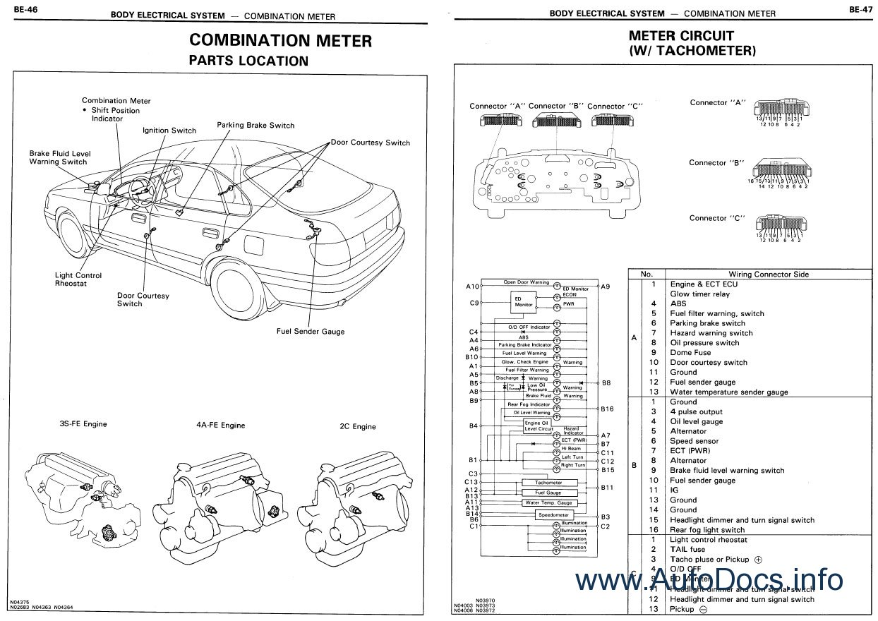 toyota corolla electrical wiring diagram 2001 dodge dakota trailer repair manual order and download