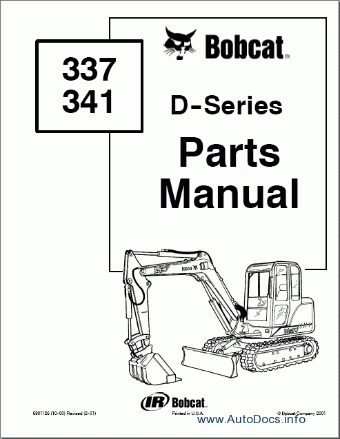 Bobcat Excavators 3xx, 4xx parts catalog Order & Download