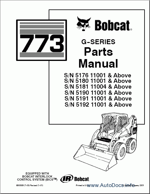 Bobcat Loaders Parts Manuals parts catalog Order & Download