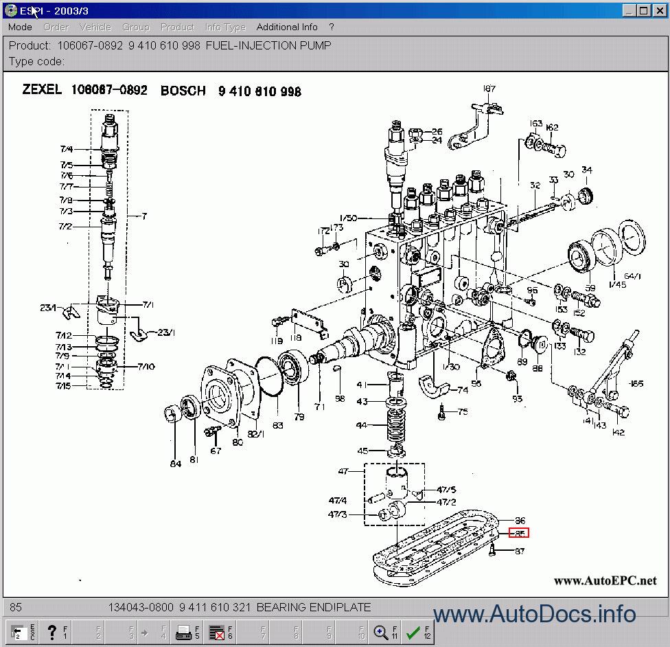 Bosch Zexel spare parts catalog, original spare parts
