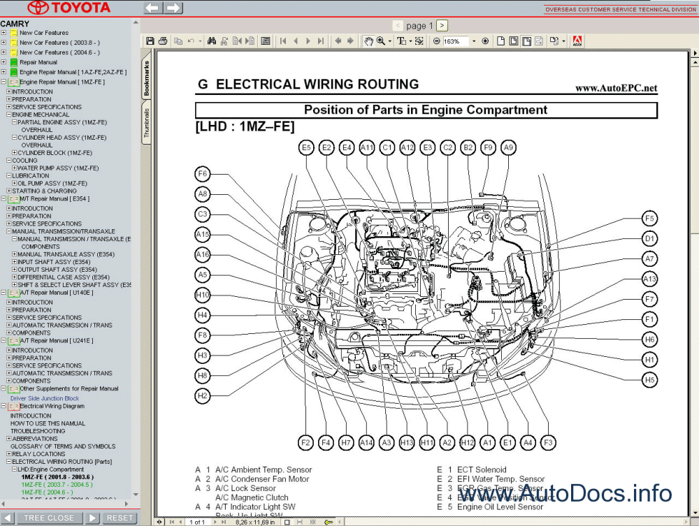 medium resolution of  repair manuals toyota camry 2001 2006 service manual 6