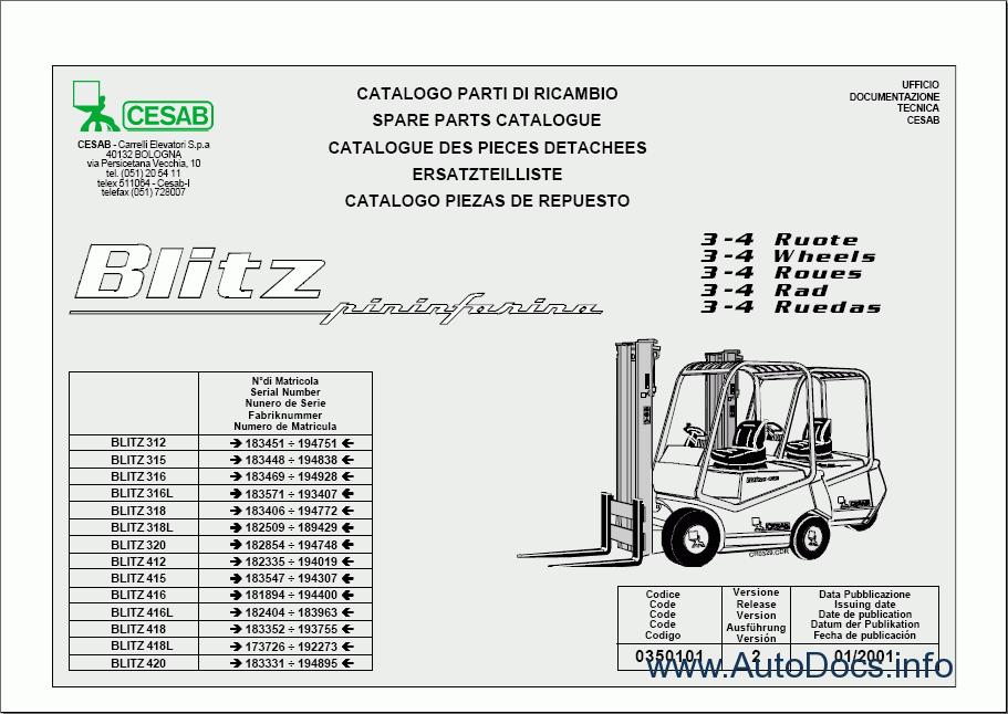 Cesab Forklifts parts catalog Order & Download