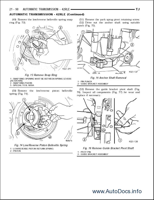 Chrysler Cherokee 1997-2003 repair manual Order & Download