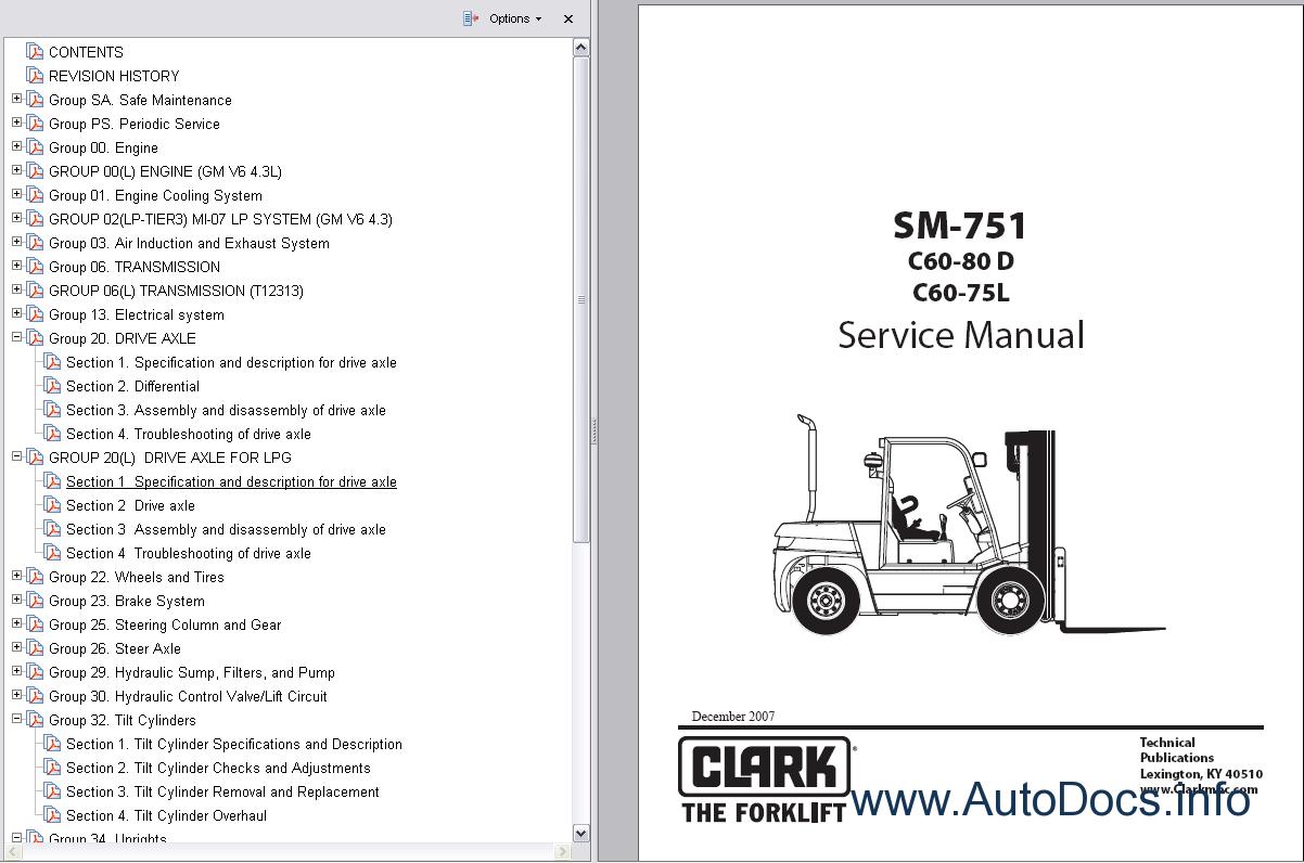 clark forklift wiring diagram 2005 ford expedition vacuum trucks service manuals repair manual order