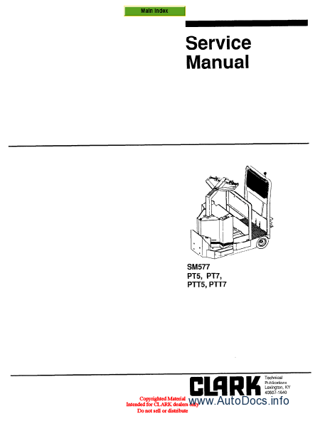 Clark GEX 20-30 Forklift Service Repair Workshop Manual