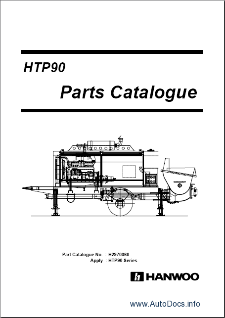 Daewoo Hanwoo Cranes parts catalog repair manual Order