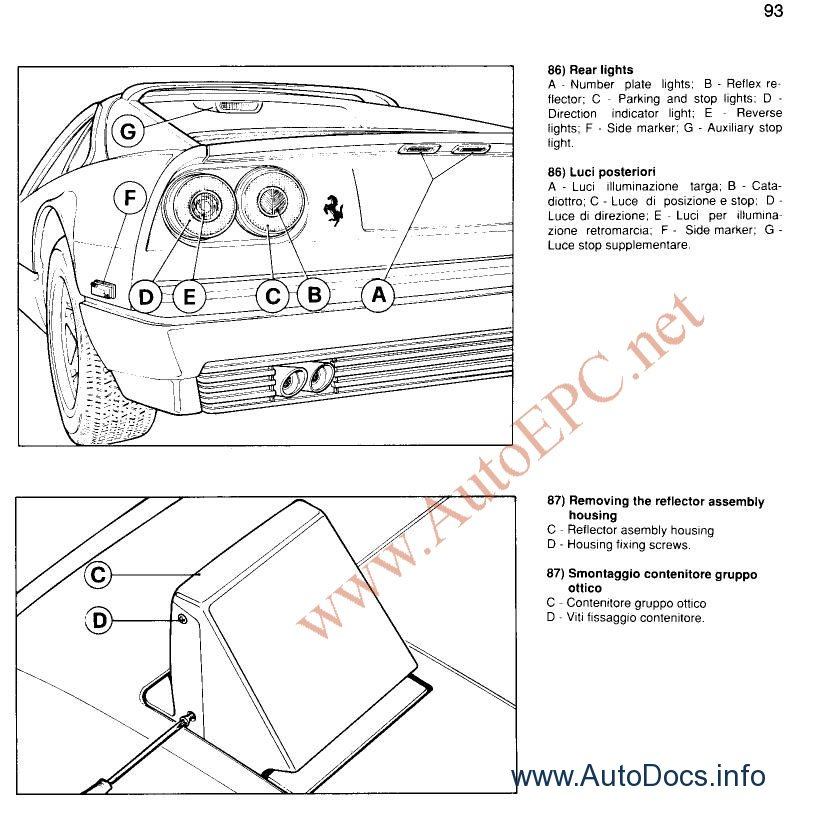 Ferrari F40 1982, 1988, 1990 repair manual Order & Download