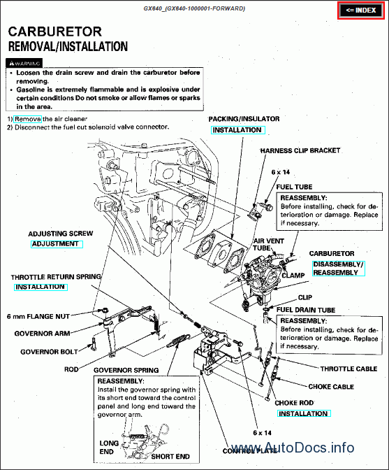 Honda Engines repair manual Order & Download