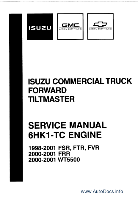 Isuzu NPR Diesel and F Series 1996-1999 repair manual