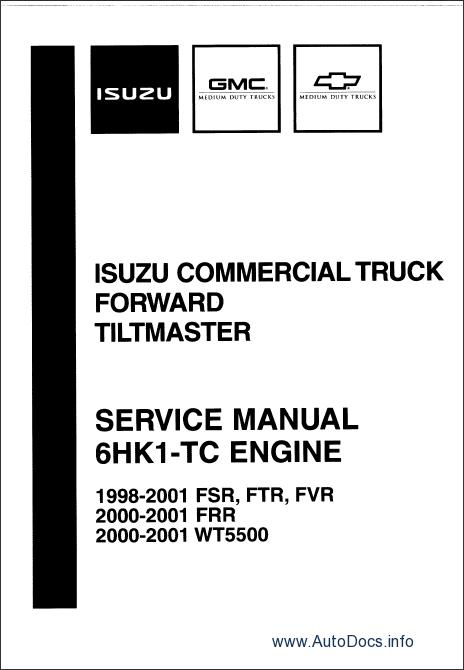 Isuzu NPR Diesel and F Series 1996-1999 repair manual