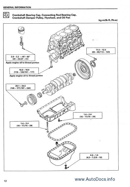 ISUZU 4JG2 Diesel Engine Service Manual repair manual Order & Download