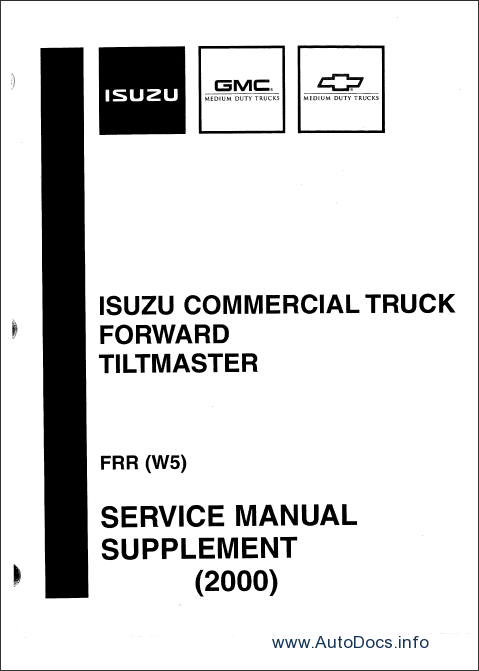 Isuzu NPR Diesel and F Series 2000-2003 repair manual