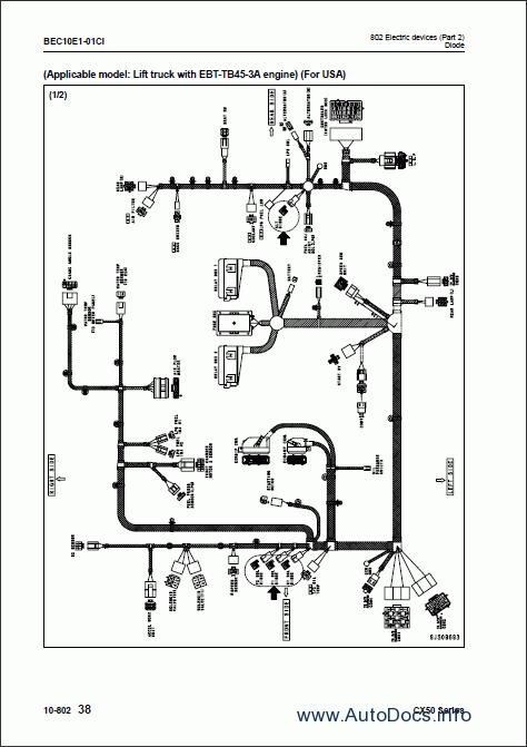 Komatsu ForkLift Truck CX-50 series repair manual Order