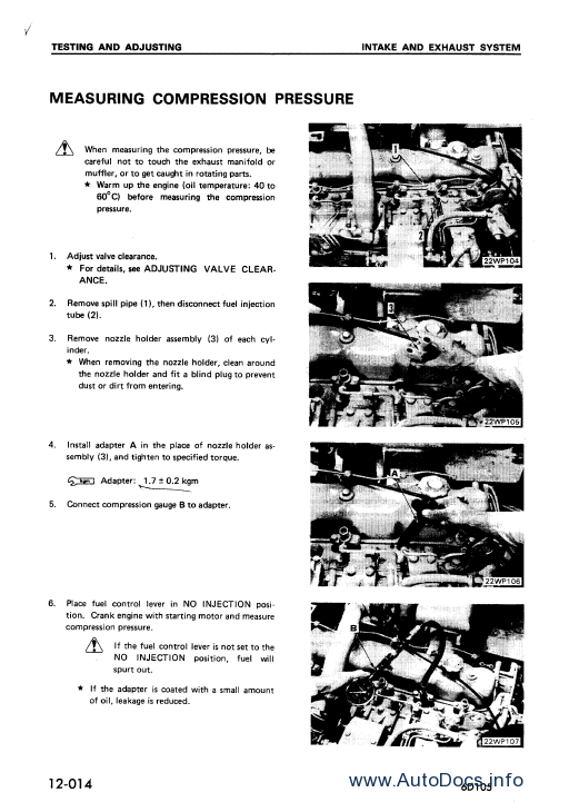 Komatsu Engine SA12V140Z-1 series repair manual Order