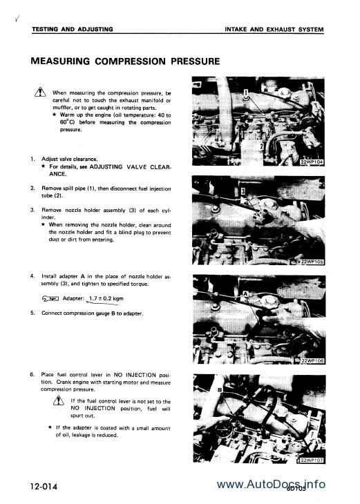 Komatsu Engine 82, 84, 88, 98, 106 series repair manual
