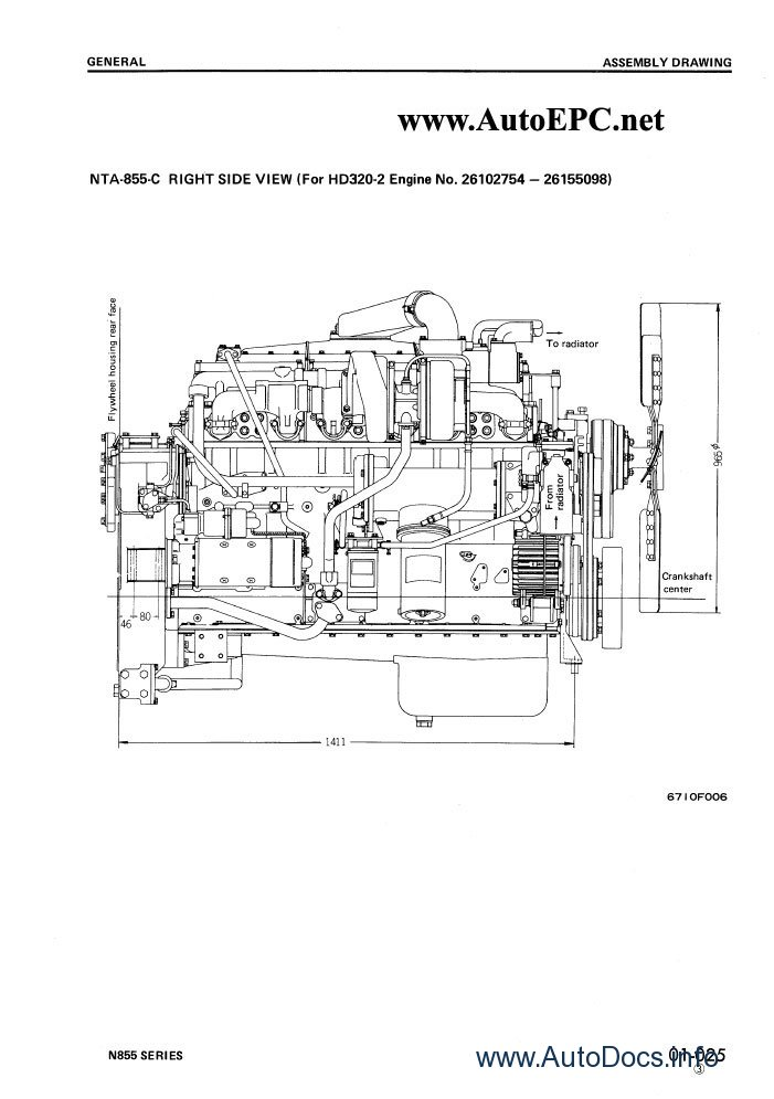 Komatsu Cummins N-855 Diesel Engine repair manual Order