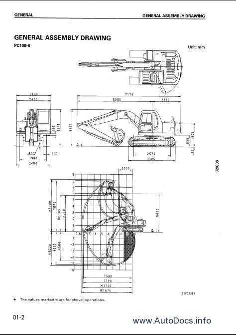 Komatsu Hydraulic Excavator PC100-6, PC120-6, PC130-6