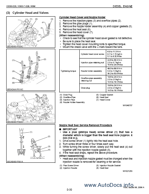 Kubota V3300 Diesel Engine repair manual Order & Download