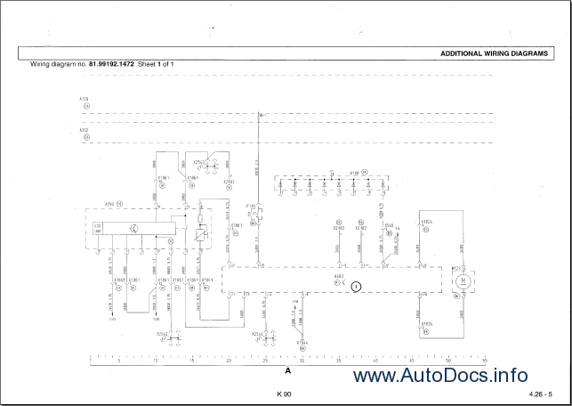 MAN Electrical System TG-A K90 Wiring Diagrams Manual PDF