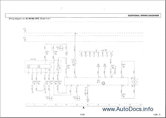 MAN Electrical System TG-A K90 Wiring Diagrams Manual PDF