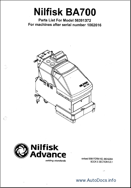 Nilfisk Advance parts catalog Order & Download
