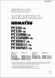 Komatsu PC120-5K, PC130-5K, PC150-5K, PC180-5K Excavator