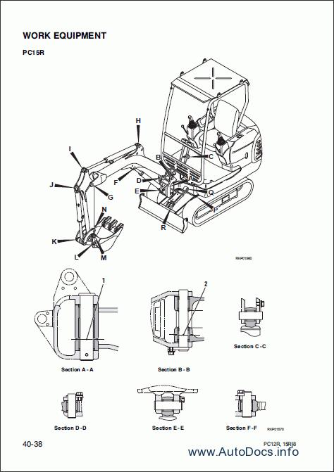 Komatsu Hydraulic Excavator PC12R-8, PC15R-8 repair manual
