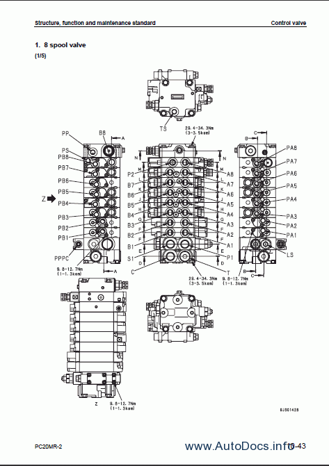 Komatsu Hydraulic Excavator PC20MR-2 repair manual Order