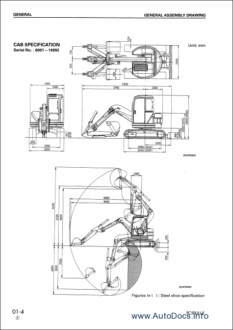 Komatsu PC50UU-2 Hydraulic Excavator Service Manual repair