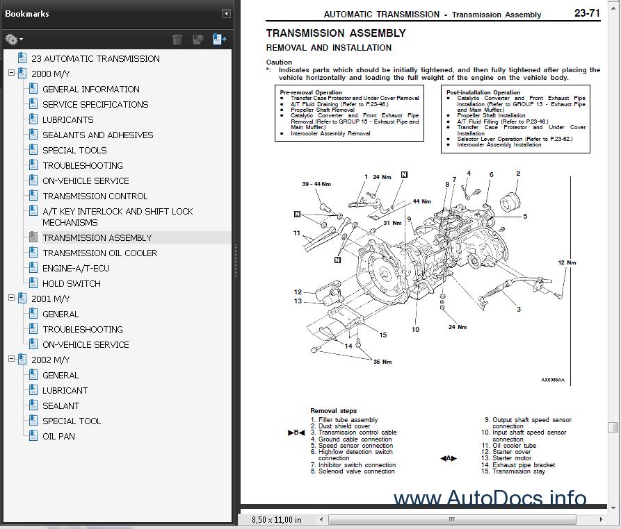 2000 Montero Sport Repair Manual