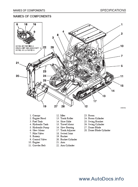 Takeuchi TB007 repair manual Order & Download