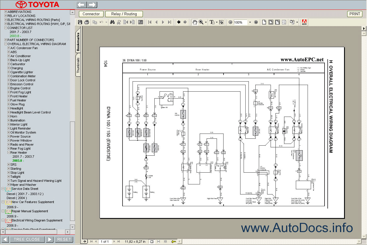 system wiring diagrams toyota diagram ceiling fan light 3 way switch 2 dyna 100 150 service manual repair order
