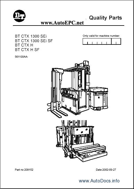 Toyota Lift Truck spare parts catalogue, parts manuals