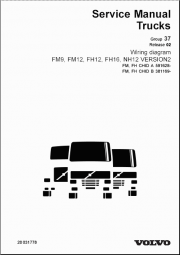 Volvo Trucks Wiring Diagrams for FM9, FM12, FH12, FH16