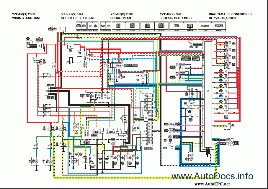 1999 yamaha r6 wiring diagram yamaha r6 power wiring