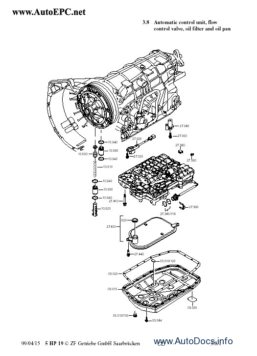 ZF 5HP19, ZF 5HP19 FL/A Repair Manual repair manual Order