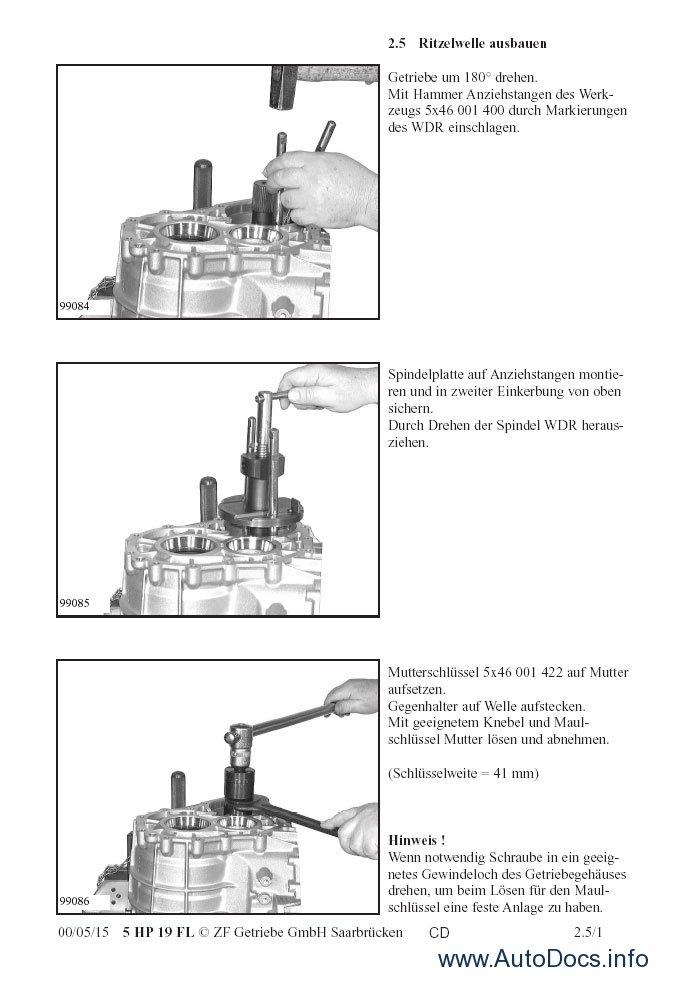 ZF Automatic Transmissions Repair Manuals repair manual