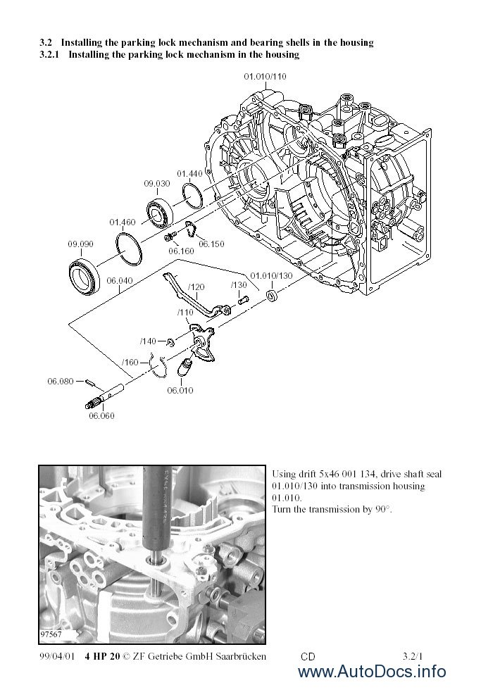 ZF 4HP20 Repair Manual repair manual Order & Download