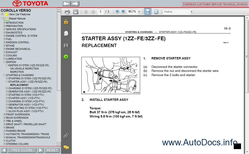 2001 Toyota Corolla Service Guides
