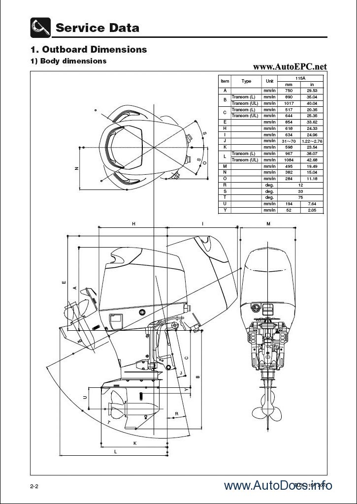 Tohatsu Parts and Service Manuals parts catalog repair