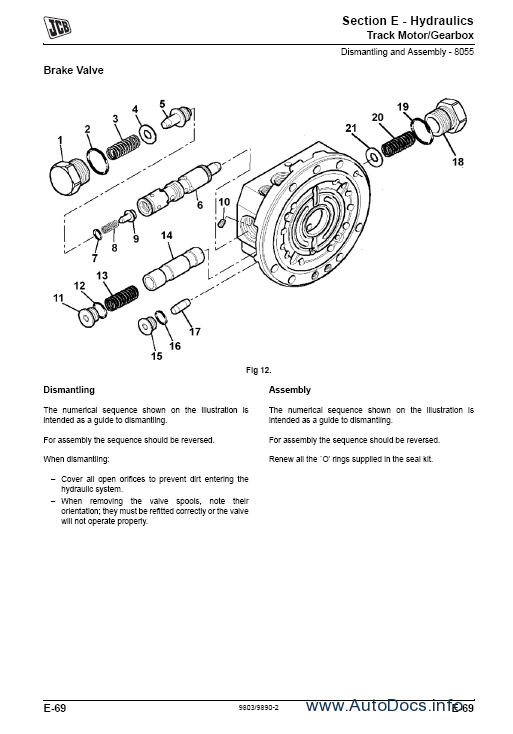 Jcb 8052 8060 Midi Excavator Service Repair Manual