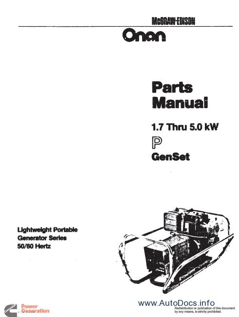 Cummins ONAN Parts parts catalog Order & Download