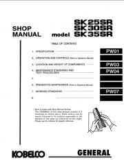 Kobelco SK25SR/SK30SR/SK35SR Excavator Service Manual
