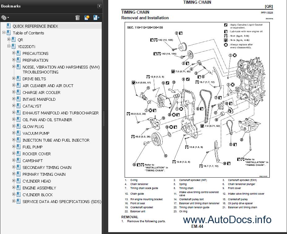 Repair Manuals: X-trail Repair Manuals