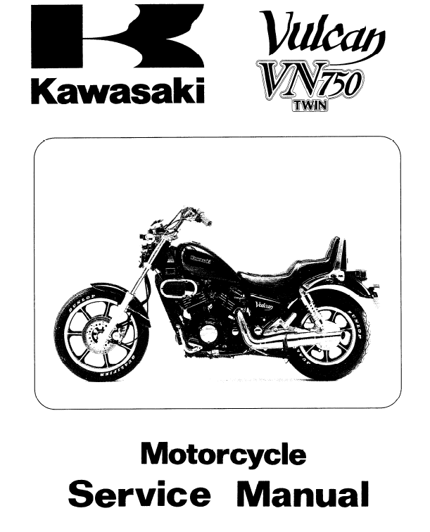 Kawasaki VN 750 Twin Parts and Service Manual repair