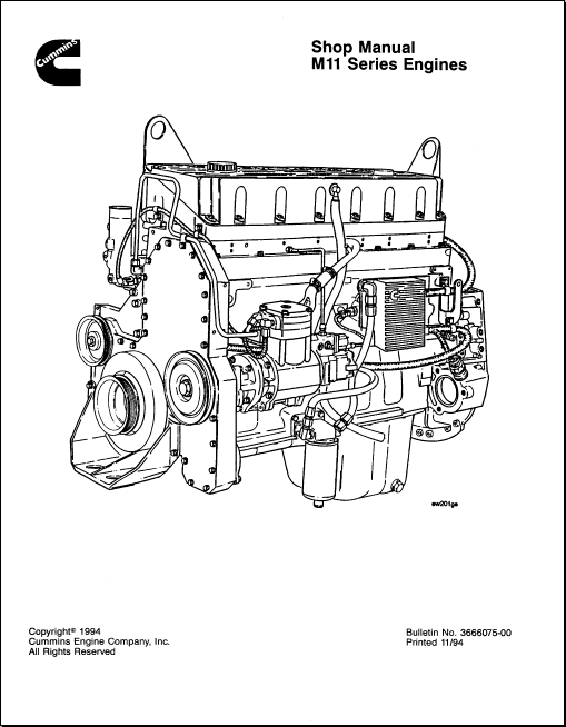 Cummins Engine Series M11 Order & Download