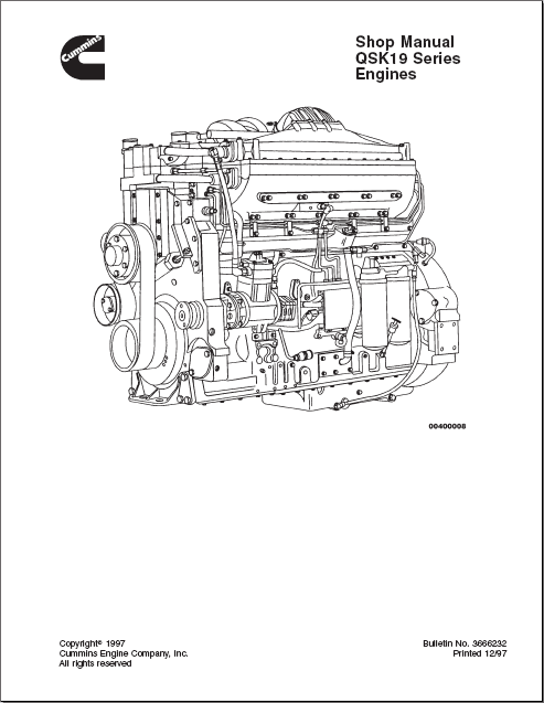 Cummins QSK19 Series Engine Order & Download
